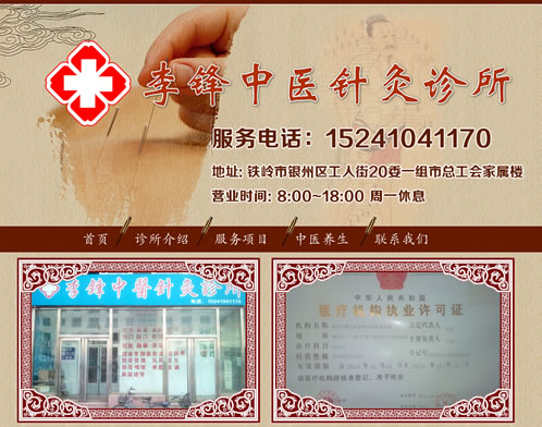 中医针灸网站建设